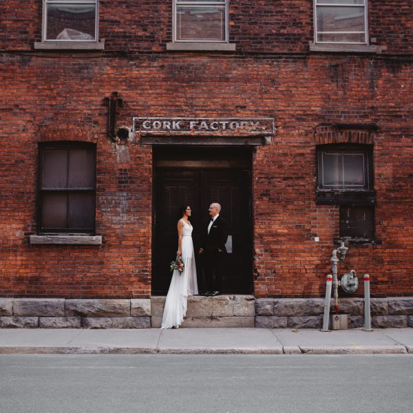 Summer wedding in Old Port Montreal